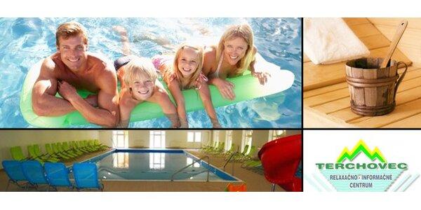 """4,50 Eur za vstup do """"Vodného sveta"""" relaxačného centra Terchovec so zľavou 52%!"""