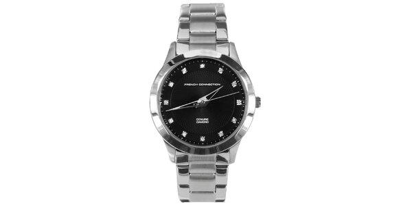 Dámske hodinky s čiernym ciferníkom French Connection