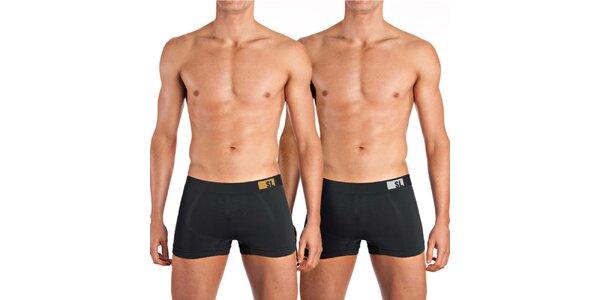 Sada dvoch pánskych boxeriek v čiernej farbe Mosmann