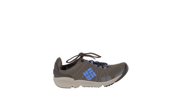 Dámske hnedo-šedé trekové topánky Columbia