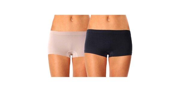 Sada dvoch dámskych nohavičiek Mosmann - čierne, béžové