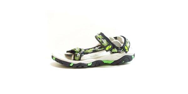 Dámske sandále so vzorovanými remienkami Numero Uno