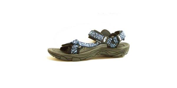 Dámske sandále so vzorovanými modrými remienkami Numero Uno