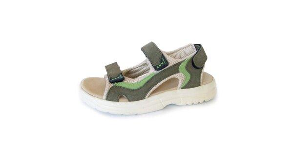 Dámske khaki sandále Numero Uno