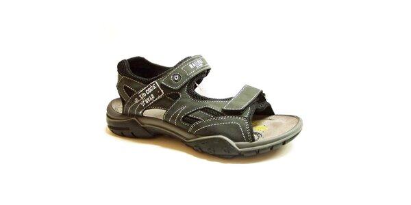 Pánske tmavo šedé sandále Numero Uno