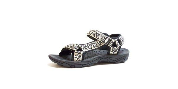 Pánske čierno-biele vzorované sandále Numero Uno