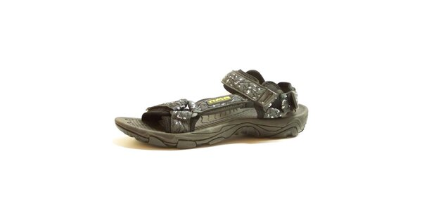 Pánske šedé vzorované sandále Numero Uno