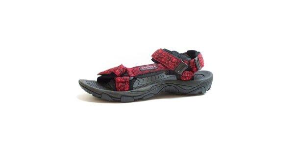 Pánske čierno-červené vzorované sandále Numero Uno