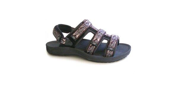 Pánske hnedo-čierne vzorované sandále Numero Uno