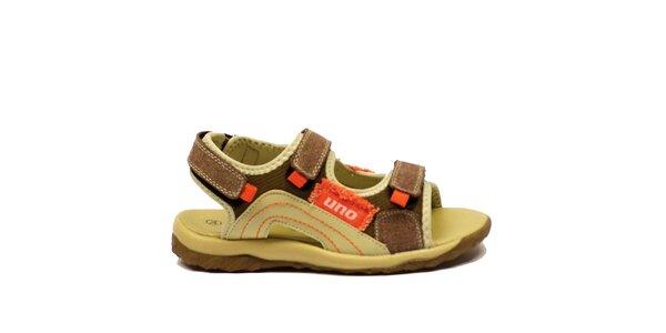 Detské sandále s oranžovými prvkami Numero Uno