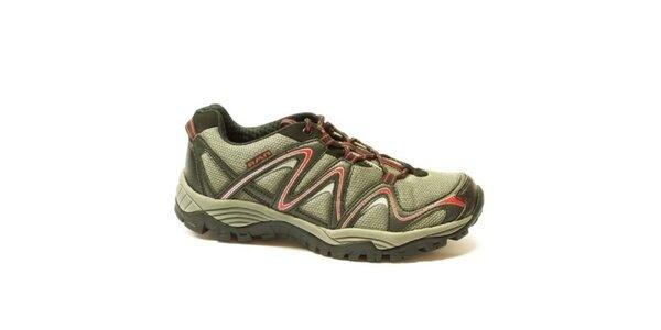 Pánske šedo-červené športové nízke topánky Numero Uno