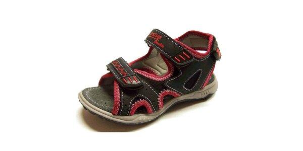 Detské čierno-červené sandálky Numero Uno