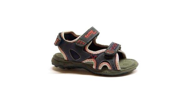 Detské modro-červené sandálky Numero Uno