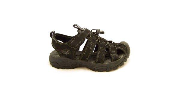 Pánske čierne sandále s vyztuženou špičkou Numero Uno