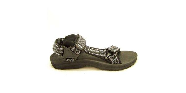 Dámske čierne sandále so vzorovanými remienkami Numero Uno