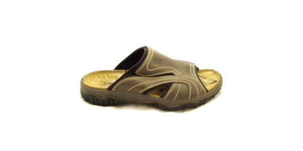 Pánske béžové nazúvacie topánky Numero Uno