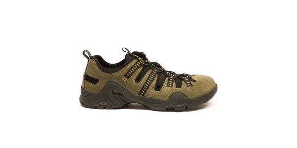 Pánske ľahké trekové šedohnedé topánky Numero Uno