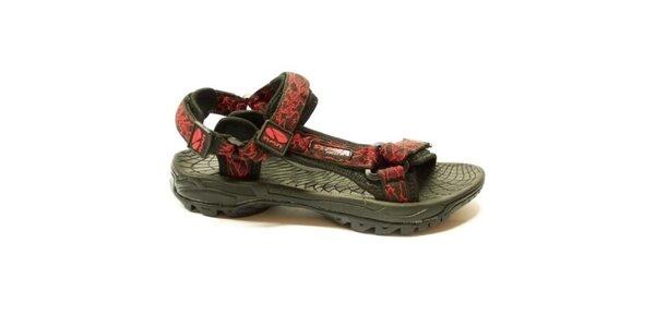 Dámske trekové sandále s červeným vzorom Numero Uno