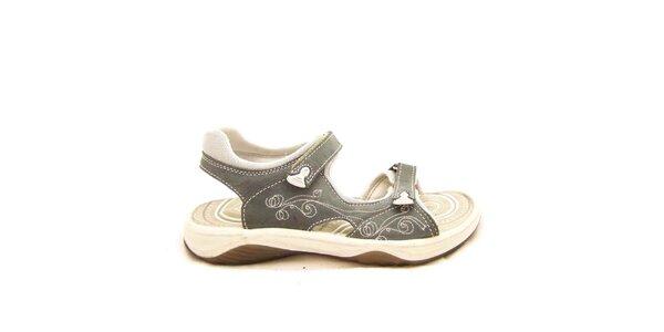 Dámske šedo-krémové sandále s prešívaním Numero Uno