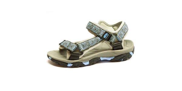 Dámske sandále s modrým prvkom Numero Uno