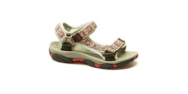 Dámske bielo-červené sandále Numero Uno so vzorom