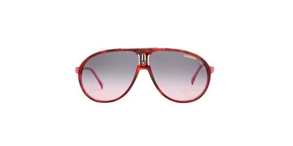Červené slnečné okuliare s ružovými stranicami Carrera