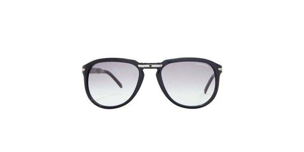 Čierne slnečné okuliare s hnedými sklami Carrera