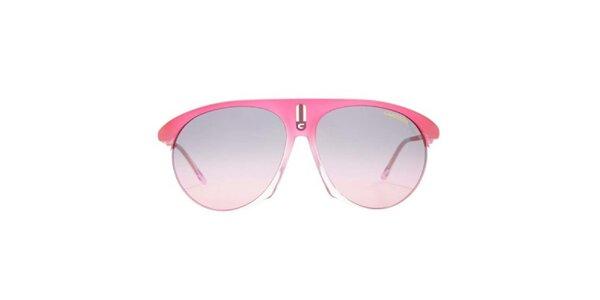 Ružové slnečné okuliare s transparentnou časťou Carrera