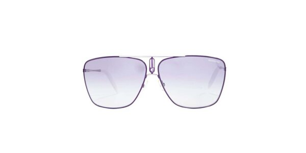 Fialové slnečné okuliare s tenkými obrubami Carrera