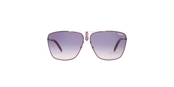 Vínové slnečné okuliare s tenkými obrubami Carrera