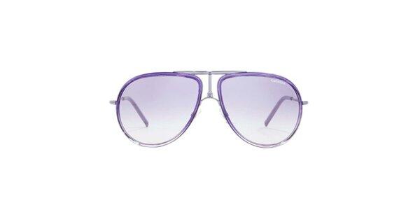 Fialové slnečné okuliare s tenkými stranicami Carrera