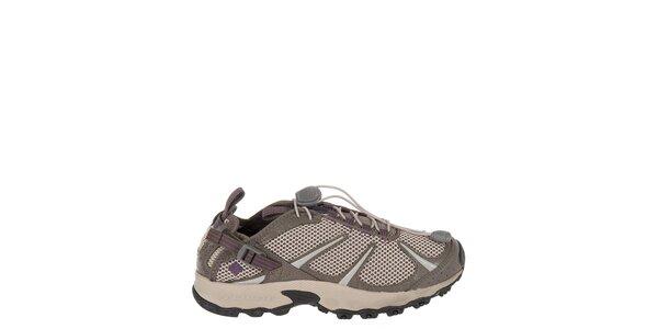 Dámske svetlo hnedé běžecké topánky Columbia