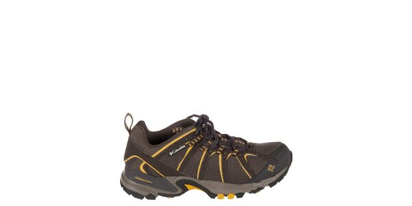 Pánske nízke tmavo hnedé trekové topánky Columbia