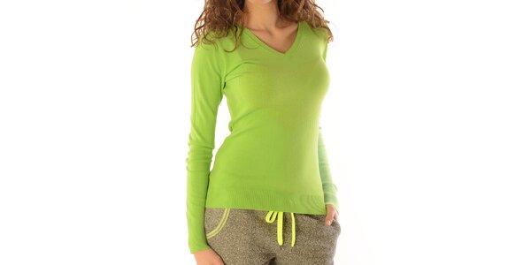 Dámsky zelený sveter so srdcom Silvana Cirri