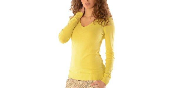 Dámsky žltý sveter so srdcom Silvana Cirri