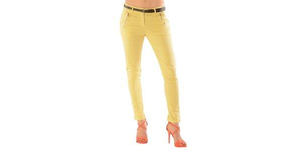 Dámske žlté nohavice Silvana Cirri