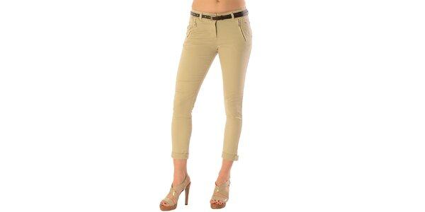 Dámske béžové nohavice Silvana Cirri