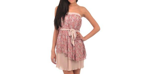 Dámske ružové hodvábne šaty Silvana Cirri
