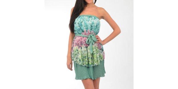 Dámske zelené hodvábne šaty Silvana Cirri