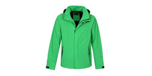 Pánska zelená funkčná bunda Bergson