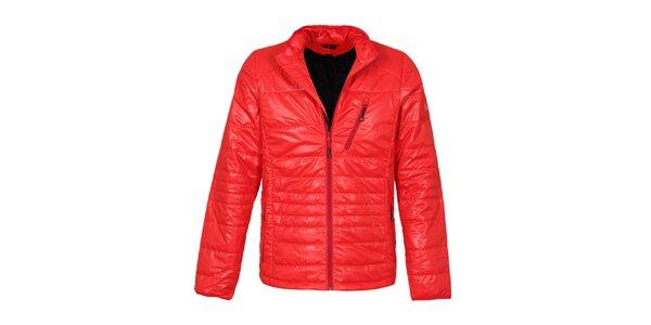 Pánska červená prešívaná bunda Bergson