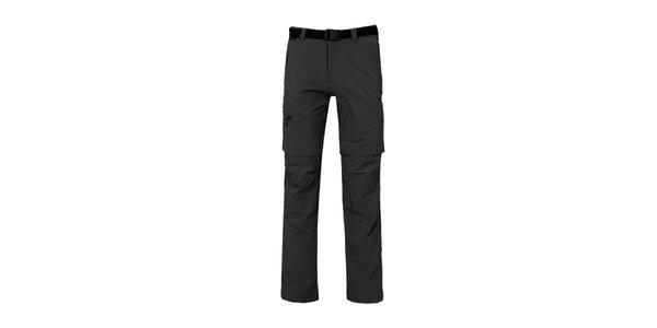 Pánske čierne nohavice s odopínateľnými nohavicami Bergson
