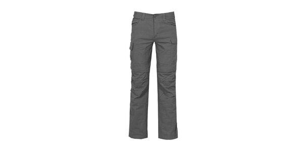Pánske antracitové nastaviteľné bavlnené nohavice Bergson