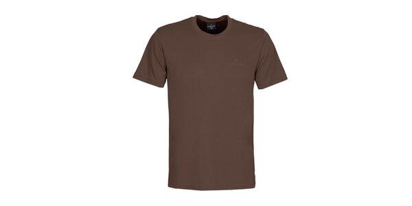 Pánske hnedé tričko Bergson
