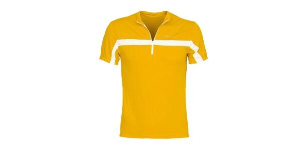 Pánske žlté cyklistické tričko Bergson