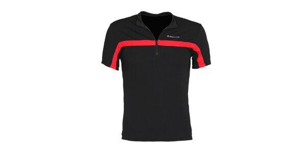 Pánske čierne cyklistické tričko Bergson