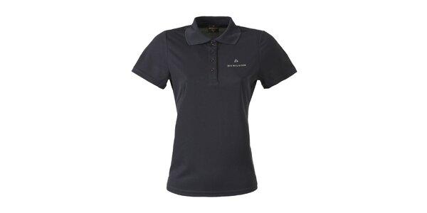 Dámske tmavé polo tričko Bergson
