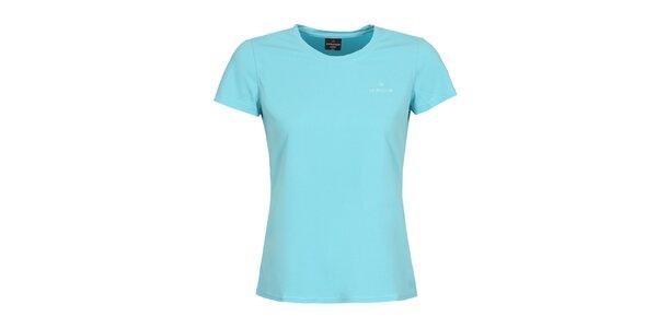 Dámske funkčné blankytno modré tričko s krátkym rukávom Bergson