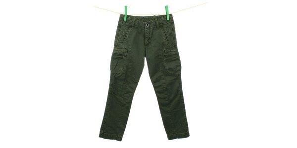 Detské tmavo zelené nohavice Aeronautica Militare