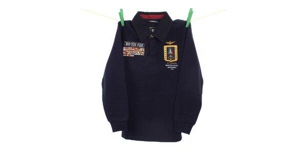 Detské tmavo modré polo tričko Aeronautica Militare